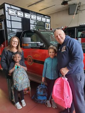 Serving County Fire Departments, AB had a couple little helpers this evening as we delivered bags to Capt. Scott Dakin with the Barrow County Fire Department for their Children After the Fire Program!